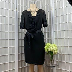 NWT CLUB MONACO SHEER SHORT SLEEVE DRESS W/Slip